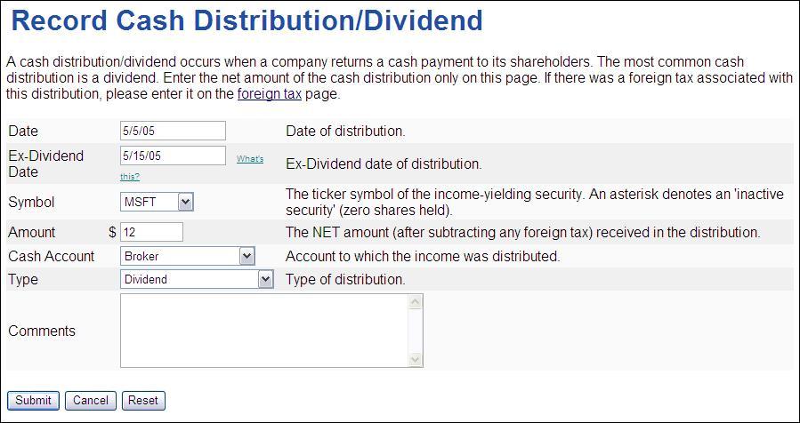 Ex dividend date vs record date